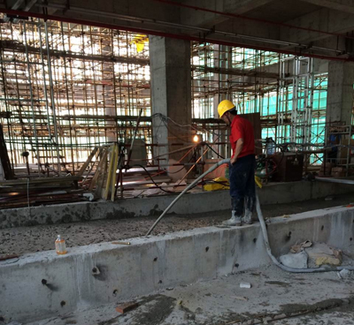 佛山星港城国际广场地下室上翻梁填充5
